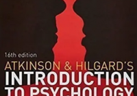 Atkinson and Hilgards Introduction to Psychology 16th Edition PDF Free Download